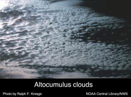 Alto clouds cover the sky.