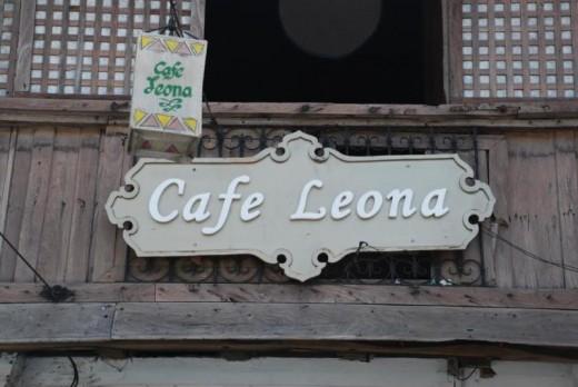 Cafe Leona signage.