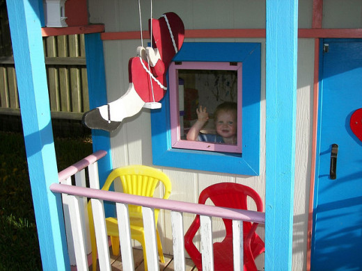 Here we see some customer interaction, showing some of the value of creating the playhouse