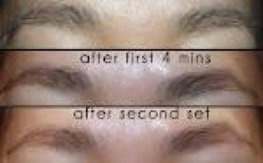 Lighten Facial Hair - Progress of Bleaching Eyebrows