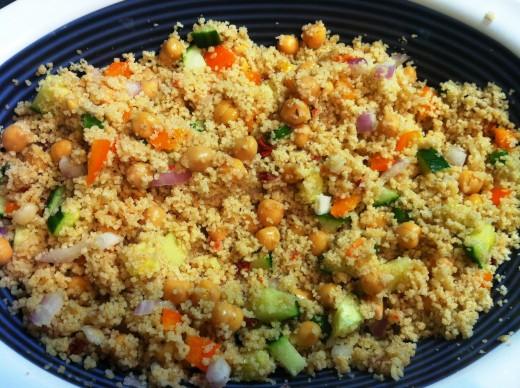 Whole wheat couscous salad