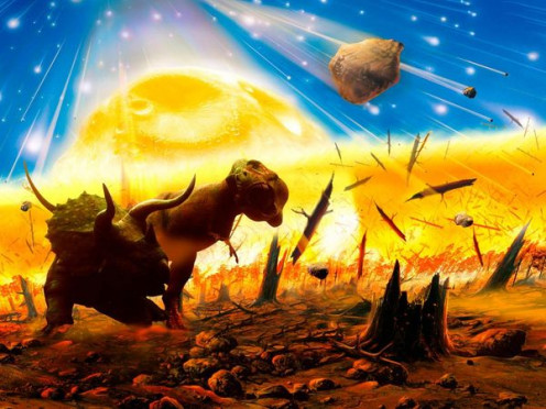 MASS EXTINCTION OF DINOSAURS