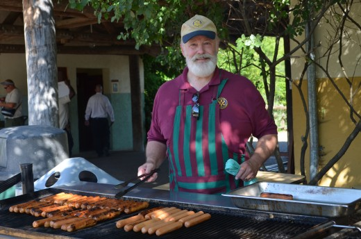 Uncle cooking for the Rotary at the zoo
