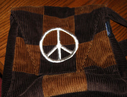 Wearing Peace Signs for Hippie Fashion