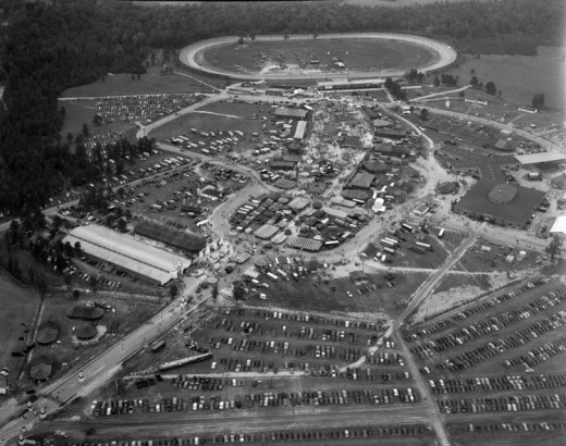 The Racetrack During The Atlantic Rural Exposition in 1952