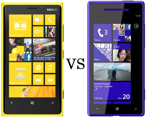 Nokia Lumia 920 vs HTC Windows Phone 8X - two leading Windows Phone 8 smartphones providing a bit better experience than Windows Phone 7