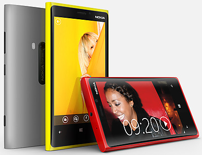 Nokia Lumia 920 (grey, yellow, red)