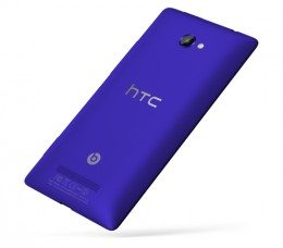 HTC 8X with Beat Audio logo on the back