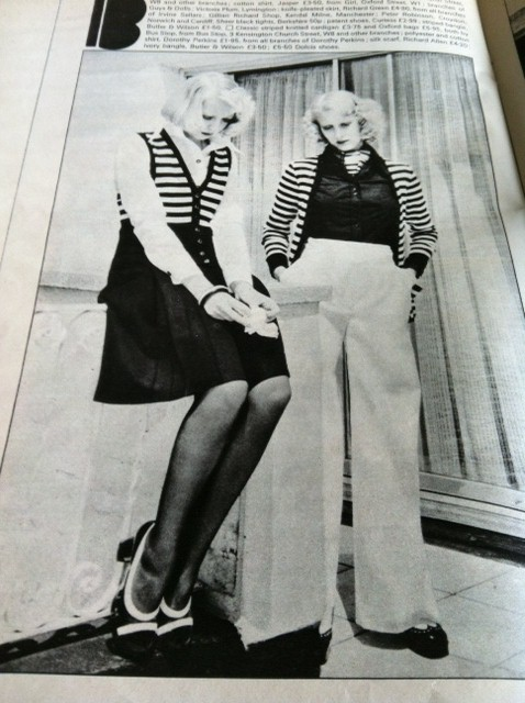 Photo from a 70's fashion magazine