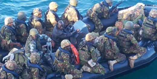 KDF soldiers heading to Kismayu port