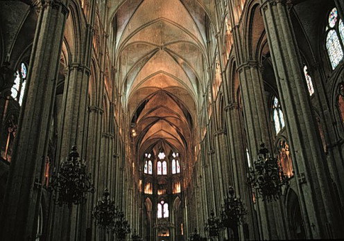 Interior of Bourges cathedral