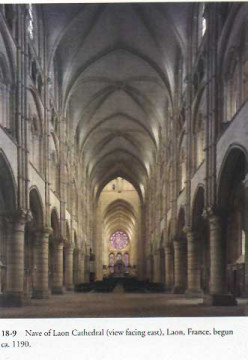 Interior of Laon cathedral