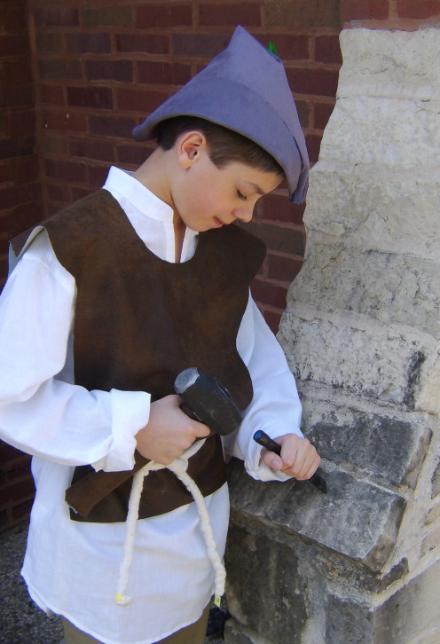 The medieval mason - a costume - yet another school project.