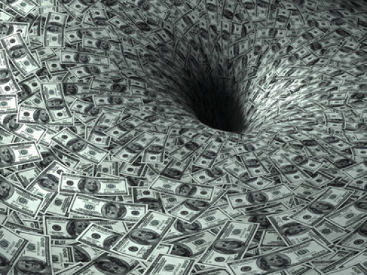 Black hole of spending