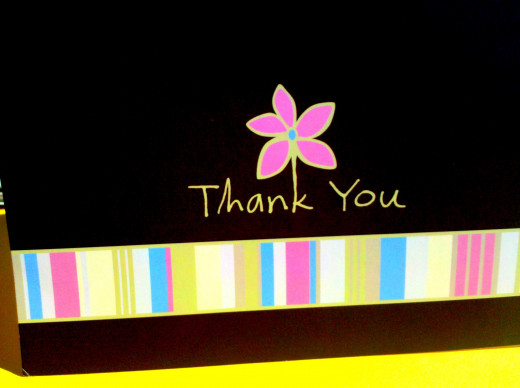 Write a thank you note to show your gratitude!
