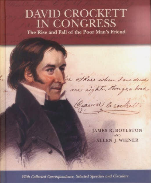 ONE OF MANY BOOKS WRITTEN ABOUT DAVID CROCKETT