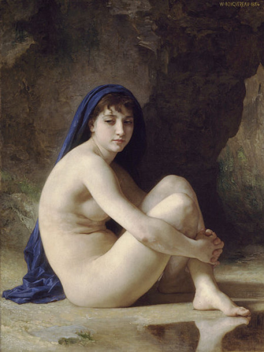 Seated Nude (painted 1884) by William Adolphe Bouguereau (1825-1905). Sterling and Francine Clark Art Institute
