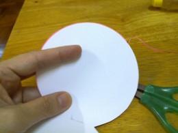 trim off excess paper