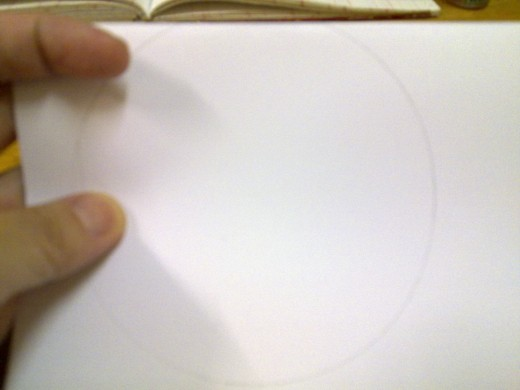 fold into half and draw the circle, a little higher