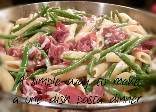One dish pasta dinners are quick, easy, and healthy.