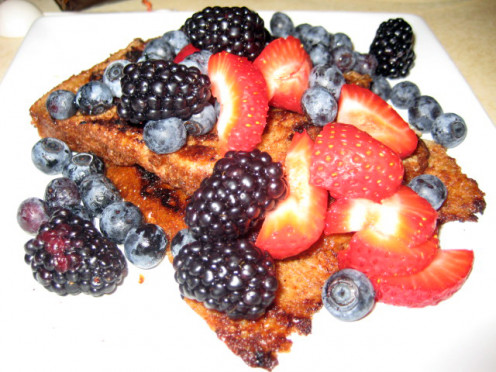 revamp your traditional french toast recipe with the addition of antioxidant rich berries.