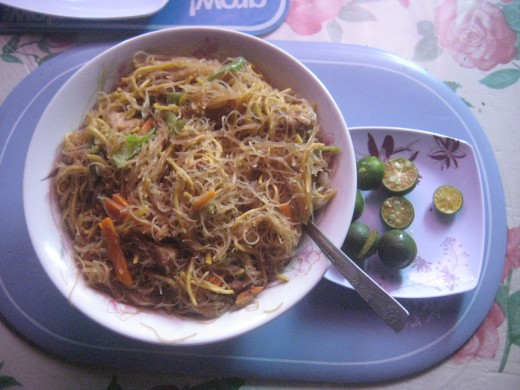8. PANCIT BIJON GUISADO (Sauteed rice noodles) Indulging in food abundance. Thank you God.