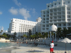 Hotel Riu Palace Las Americas, Cancun photographed from the private beach.