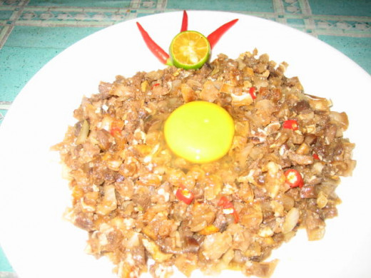 Sisig with egg