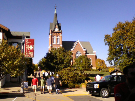 Swiss United Church in New Glarus, WI - the focal point of town
