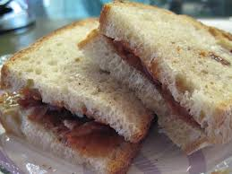 This is the sandwich that elvis created and it taste really good.