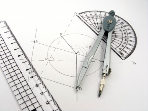 Geometry Diagram and Utensils