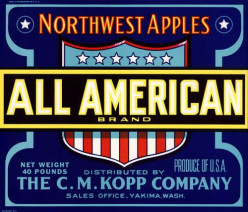 free cross stitch pattern All American Apples