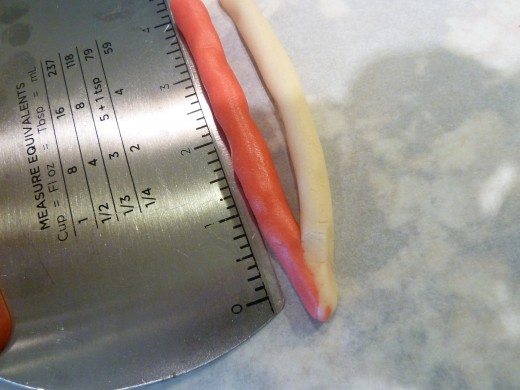 """Dough rolled to 4"""". A pastry scraper comes in handy here."""