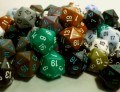 Probabilities for Rolling Dice: Rolling One, Two, or Three n-Sided Dice