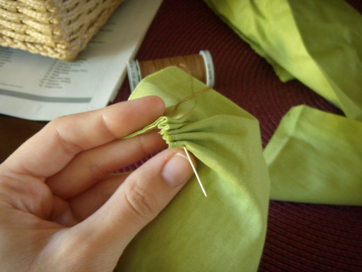 Accordion stitching method.