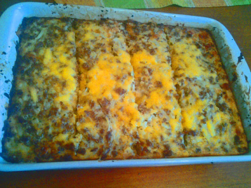 Breakfast Bake right out of the oven