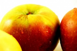 An apple is considered one of the easiest fruits to eat at work.