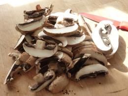 Slice your mushrooms ...