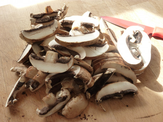 Slice your mushrooms ...