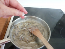 Add a generous pinch of sea salt ...