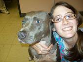 Me and Shadow, my favorite patient!
