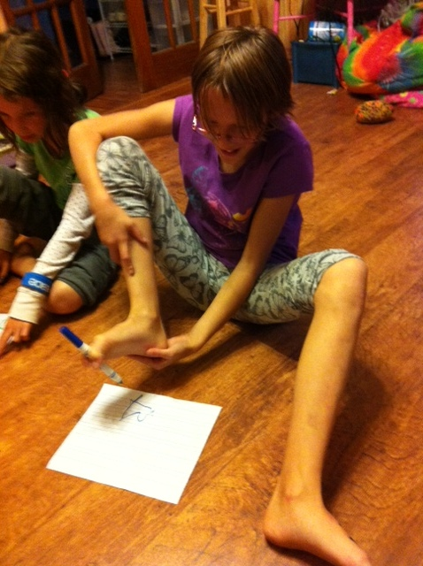Foot Pictionary