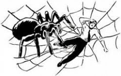 LOVER MAN VS. SPIDER LADY...by b. Malin