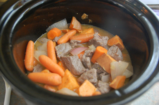 beef stew, cooking away, one of my favorite smells!