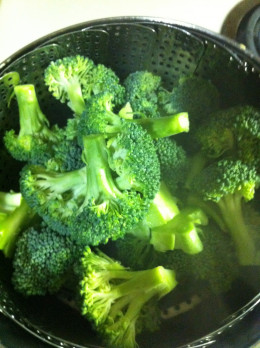 If you prefer your broccoli a bit on the crunchy side be sure to not over-steam it.