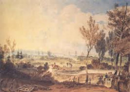 A watercolour view of  late 18th Century Oxford