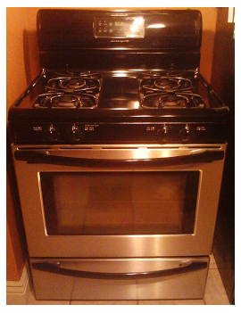 It could be scary to look under your stove.