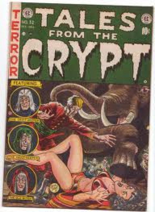 Tales From The Crypt originally aired on HBO and it was hosted by a Skelton who was named the crypt keeper.