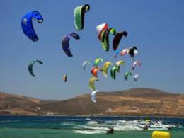 Adrenaline pumping kiteboarding