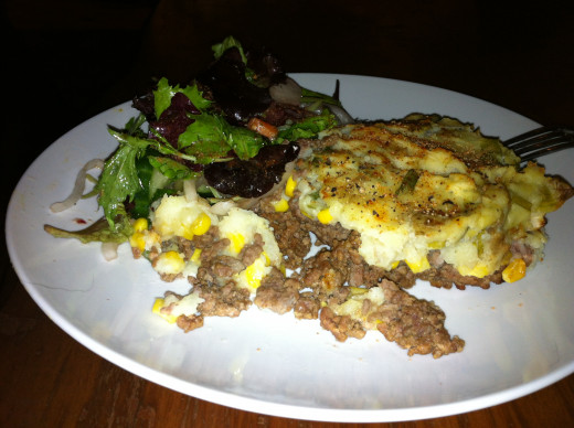 Shepherd's Pie with a side salad
